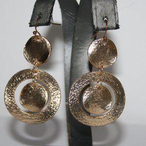 "Beautiful gold dangle earrings 2"""